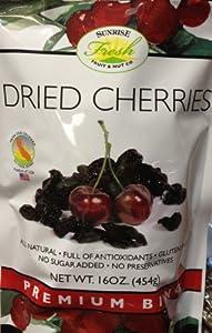 16oz Dried Cherries California Bing Cherry No Sugar Added Gluten Free Natural