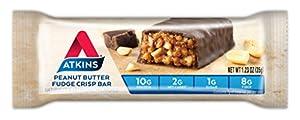 Atkins Snack Bar Peanut Butter Fudge Crisp Keto Friendly 5 Count by Atkins