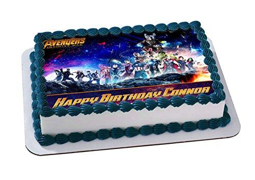Avenger Infinity War Edible Image Cake Topper Personalized Birthday 14 Sheet Decoration Custom Party Sugar Frosting Transfer Fondant