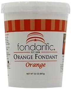 Fondarific Orange Fondant 2-pounds by Fondarific