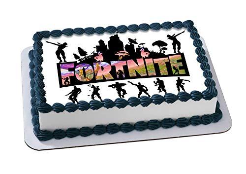 Fortnite Battle Royale Edible Cake Image Cake Topper Icing