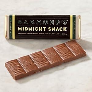 Hammonds Gourmet Chocolate Bar - Kosher - 6 Pack - 225 Oz Each Bourbon Pecan Pie Milk by Hammonds