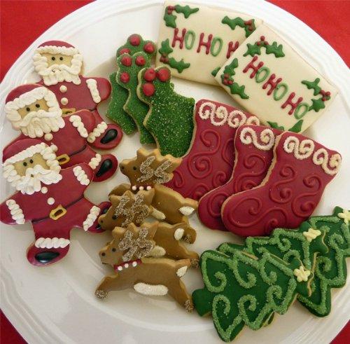 Hand Decorated Gluten Free Christmas Sugar Cookies 16 Cookies at Sugar ...