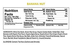 Health Warrior Chia Bars Banana Nut 5 Count by Health Warrior