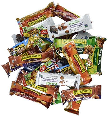 Healthy Bar Bulk Mix Sweet Salty Granola Bar Bundle Care Package - Kashi  Nature Valley Quaker Nutri Grain By Taste Box 60 Count by Taste Box