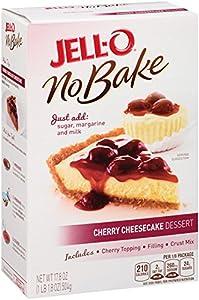 Jell-o Cherry Cheesecake Gelatin Dessert Mix 178 Oz Box by Jell-O No Bake