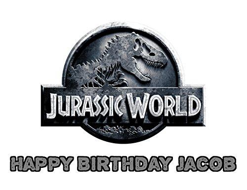 Jurassic World Dinosaur Park Edible Image Photo Sugar Frosting Icing Cake Topper Sheet Personalized Custom Customized Birthday Party