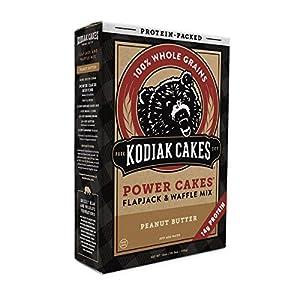 Kodiak Cakes Power Cakes Non Gmo Protein Pancakeflapjackwaffle Mix Crunchy Peanut Butter 18 Ounce by Kodiak Cakes