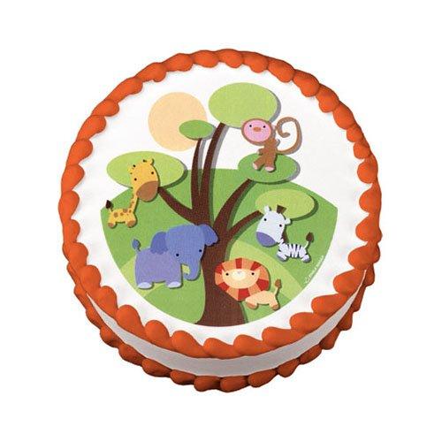 Edible Cake Images Kosher : Little Safari Jungle Animals Edible Image Cake Decoration ...
