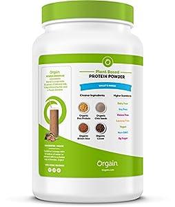 Orgain Organic Plant Based Protein Powder Creamy Chocolate Fudge - Vegan Low Net Carbs Non Dairy Gluten Free Lactose Free No Sugar Added Soy Free Kosher Non-gmo 203 Pound by ORGAQ