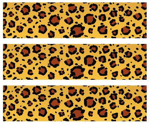 Safari Leopard Print Edible Cake Border Decoration From