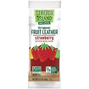 Stretch Island Strawberry Original Fruit Leather Snacks Vegan Gluten Free Non-gmo No Sugar Added - 05 Oz Strips 30 Count by Stretch Island