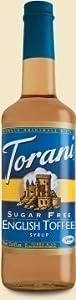 Torani Sugar Free English Toffee Syrup W Splenda 750 Ml from Torani